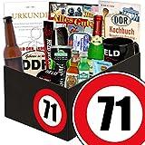 Geschenk zum 71. Geburtstag   DDR Geschenk Box   GRATIS DDR Kochbuch   Männer Set