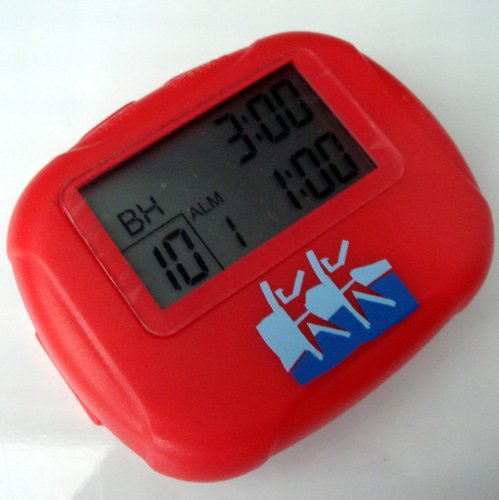 Interval Sports Timer & Stopwatch - Boxing Training/Martial Arts/MMA/Circuit Training/Weightlifting Red