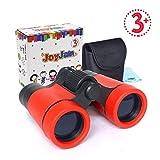 Cadeaux pour Garçon de 8-10 Ans, Joy-Jam Mini Jumelles Compactes pour Enfants, Jouets éducatifs 4x30mm Jumelles Pliantes Rouge Cadeaux de Anniversaire Noël