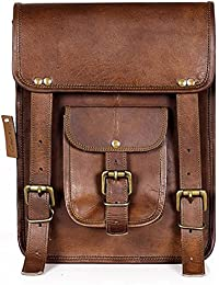 Creature CRTSL_058 Tan Color Genuine Leather Unisex Sling Bag