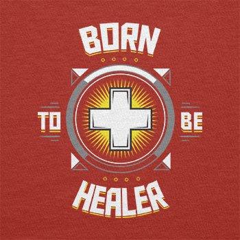 TEXLAB - Born to be Healer - Herren Langarm T-Shirt Rot
