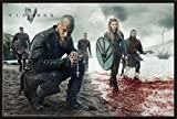 Vikings - Blood Landscape - Wikinger TV Serie Poster Plakat Druck - Größe 91,5x61 cm + Wechselrahmen, Shinsuke® Maxi Kunststoff schwarz, Acryl-Scheibe