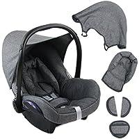 BAMBINIWELT Ersatzbezug für Maxi-Cosi CabrioFix 6-tlg. GRAU/GRAU, Bezug für Babyschale, Komplett-Set