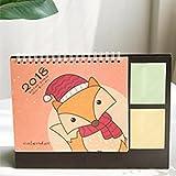 babasm Creative 2018Cartoon Fox Desktop Flip Kalender Monat zu View Stand Up Office Home Tisch Planer Kalender Notebook (orange)