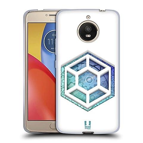 Head Case Designs Hexagon Getriebe Soft Gel Hülle für Motorola Moto E4 Plus