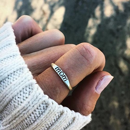 Mom-ring-schmuck (Canvivi Silberring Mutterstag Geschenk Schmuck Mom Ring)