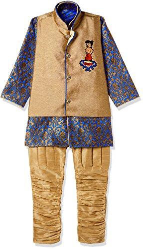 Chhota Bheem Boys' Kurta Pyjama (GGAPP-CB520D_Blue_7-8 yrs)