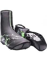 Cubrezapatillas Ciclismo MTB Bicicleta de Carretera Impermeable Shoe Covers Unisexo Negro-Verde