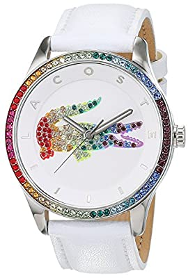 Lacoste 2000822 - Reloj analógico de pulsera para mujer, pulsera de piel