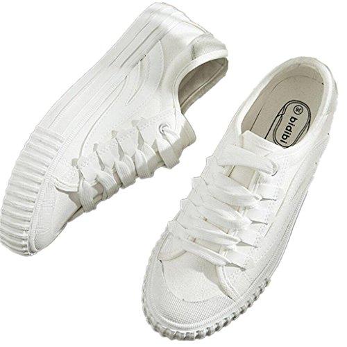SHFANG Lady Shoes Scarpe Canvas Classic Scarpe Ping Movimento Confortevole Tempo libero Corsa Fitness Studenti Daily Black White White