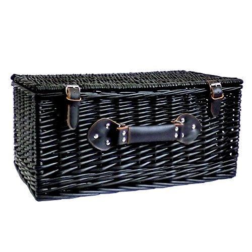 Black Wicker Storage Basket 20