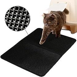 """FREESOO Estera de arena para gatos impermeable alfombra de basura rascadores Cat Litter Mat Litter Trapping doble capa no tóxico 28 """"X 21"""""""