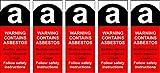 Asbest Etiketten Schild * 5Stück * Jeder Label ist eine 25mm x 62mm Aufkleber
