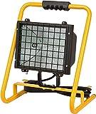 Brennenstuhl Halogenstrahler Brobusta / Flutlicht Halogen ideal als mobiler Baustrahler (IP65 geprüft, 5m Kabellänge, 1000 Watt) Farbe: gelb