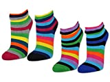 2 / 4 / 6 Paar Damen THERMO Socken Innenfrottee Umschlag-Socken Bunte Ringel Damensocken - 12790 - sockenkauf24 (Farbmix - 39-42, 4 Paar)
