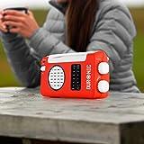 Duronic Hybrid Radio AM / FM – Solarenergie und USB-Ladegerät – Ideal für Camping, Wandern, zu Hause oder im Garten / Aufladbare Kurbel - 6