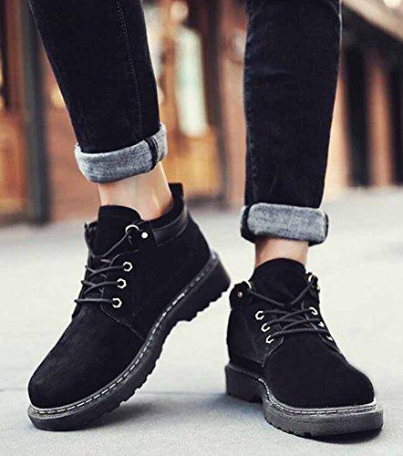 Uomo Inverno Martin Stivali British High Top Retro Europa e America Youth Casual Shoes Shoes Black