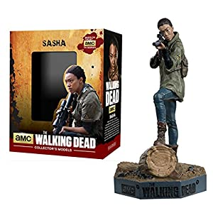 Figura de plomo y resina The Walking Dead Collector's Models Nº 10 Sasha 11