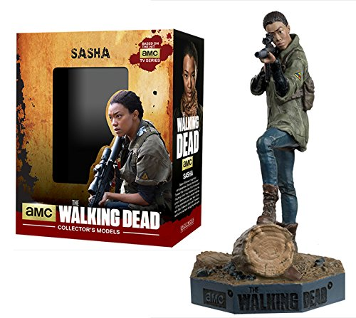 Figura de plomo y resina The Walking Dead Collector's Models Nº 10 Sasha 1