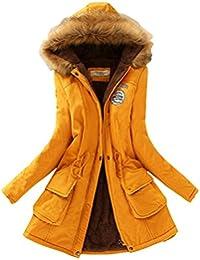 Femme Loisirs Épaissi Veste Avec Capuche Drawstring Long Chaud Manteau