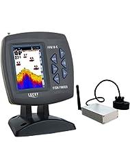 LUCKY Détecteur de poissons pour bateau d'appât avec la gamme d'opération sans fil de 300m (980ft) et la gamme de détection de profondeur de 100m (300ft)