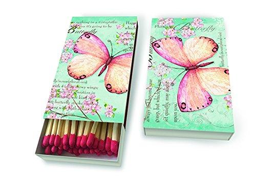 Preisvergleich Produktbild 45 Streichholz Kaminholz Schmetterling Butterflies Butterfly Papillon Tiermotiv