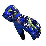 Kinder Draussen Winter Handschuhe Warm Verdickung Wasserdicht Winddicht Skifahren Wasserfest und Winddicht Kinderhandschuhe (Blau, S (6-8 Jahre alt))