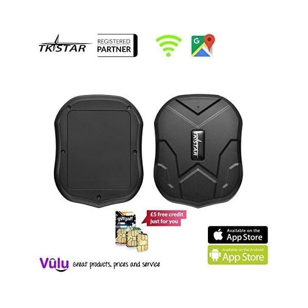 TKSTAR Mini Waterproof Tracking Device with Powerful Magnet Long Standby GPS Tracker Locator for Kids Seniors Pets Cars (FREE CUSTOMER SUPPORT MON-FRI VIA VULU GLOBAL) 1