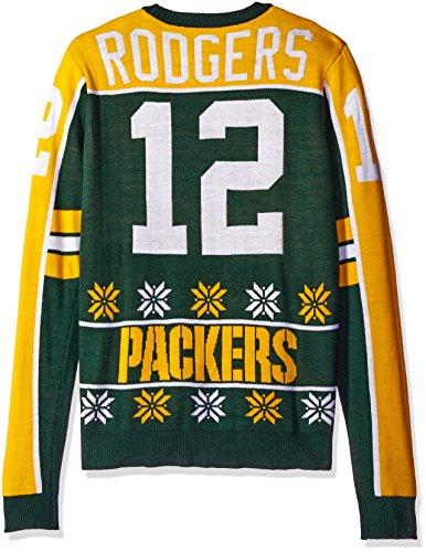 FOCO NFL Player Sweater, Unisex, Team Color, Medium Aaron Kleid