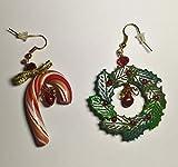 Orecchini da Donna in Fimo: Buon Natale - Rosso ~ AstraLuna Bijoux