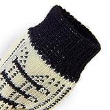 B Blesiya Schwarz Weiß Muster Schnürsenkel Hund Welpen Katze rutschfeste Socken Mit Niedlichen Pfotenabdrücke S