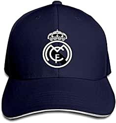 9526d11d431 Hittings Real Madrid C.F. Logo Football Club Adjustable Sandwich Baseball  Cap Navy