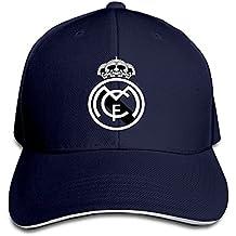 Hittings Real Madrid C.F. Logo Football Club Adjustable Sandwich Baseball Cap Navy