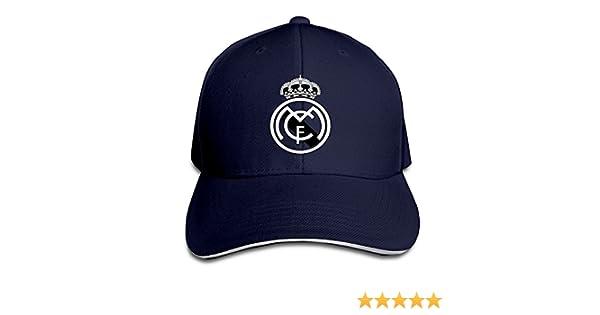 Logo Football Club Adjustable Sandwich Baseball Cap Natural Hittings Real Madrid C.F