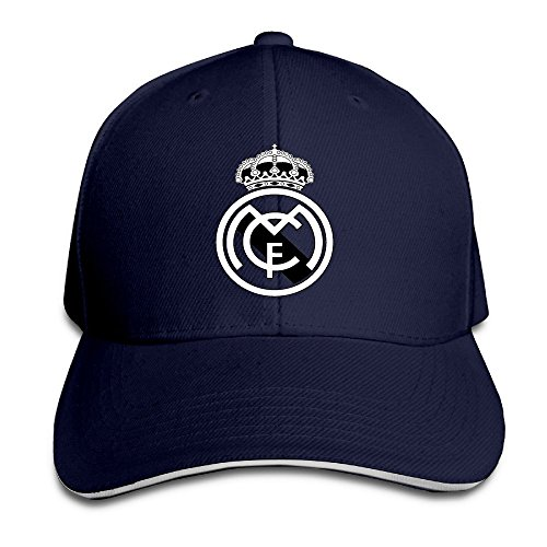 hittings Real Madrid C.F. Logo Football Club Adjustable Sandwich Gorra de béisbol Marina