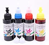 Ink Dynasty 400ML Anti-UV Water Resistant Ink Refill Kit for Refillable Cartridge Brother MFC-J6710DW MFC-J6910DW MFC-J825DW LC71 CIS CISS - Black