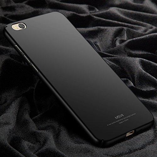 Xiaomi Mi 5c Hülle, MSVII® Sehr Dünn Hülle Schutzhülle Case Und Displayschutzfolie für Xiaomi Mi 5c - Lila JY00283 Schwarz