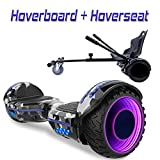 COLORWAY Hoverboard Flash-Rad Balance Elektro Scooter Roller EU Sicherheitsstandard, mit LED-Lichter (Tarnfarbe)