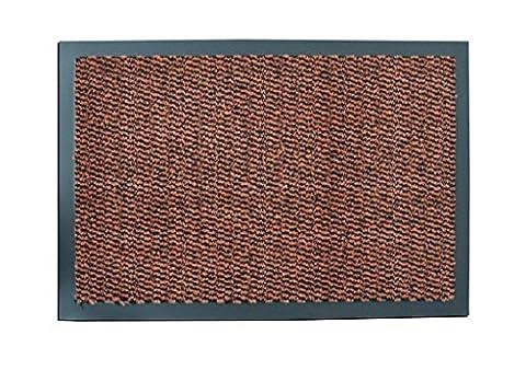 Terracotta 60x90cm Non Slip Entrance Floor Door Mat Machine Washable Heavy duty Commercial Office 100%Polypropylene Barrier Mats Cheap 7mm Thick Absorbent Pile (60x90cm (2'x2'11
