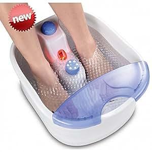 Fußmassage Fußsprudelbad mit INFRAROT Wärme Massage für Füße Fußmassagegerät