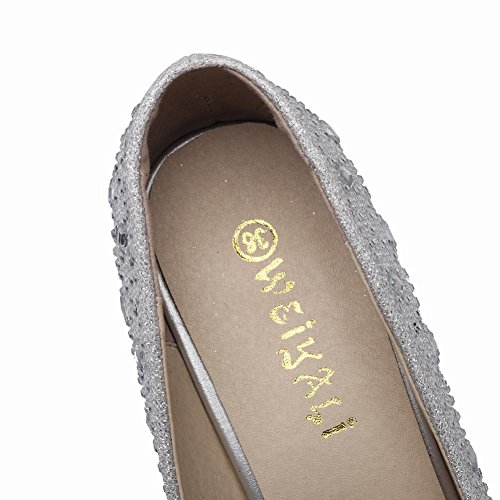 MissSaSa Donna Scarpe col Super Hight Heel Shoes Elegante e Sexy Argento