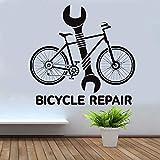 yaoxingfu Servizio di Riparazione di Biciclette Strumento Chiave Negozio di Biciclette Adesivo WW-1 44x42cm