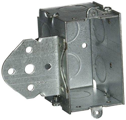 hubbell-raco 5022-1/2Zoll Tiefe Schalter Elektrische Karton, gangable mit B 5/8Zoll Rückschlag Halterung und (6) 1/2Knockouts, 3Zoll x 2Zoll -