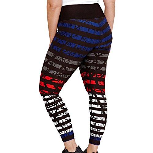 smileq Plus Größe Damen Leggings Frauen Sommer Dünn Yoga Gym strerchy Elastic Hose Hohe Taille 3D Print, Schwarz , Large (Schwarz Athletic Schuhe Arbeiten)