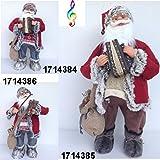 timar Babbo Natale Pupazzo con Sette Melodie Musicali azionate con Battito Mano Rosso