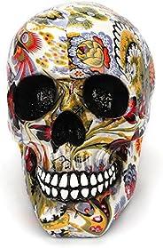 Tvoip الإبداعية الملونة نمط الجمجمة الحلي الراتنج هالوين الرعب الحديثة الجمجمة تمثال شخصية ديكور المنزل