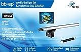 BB-EP/Thule 9000554179 Premium Alu-Dachträger-Set für BMW X1 (F48) 5 Türer SUV 2016 bis Heute - Komplettset mit Aluminium Traverse Silber - Inkl Schlüsselband und Insect Erase