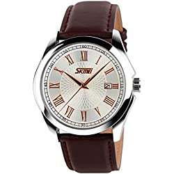 OUMOSI Mens Quartz Analog Watch Waterproof Business Dress Wristwatch