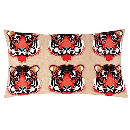 PAD - Kissenhülle, Kissen, Zierkissen - Simba, Tiger - 35 x 60 cm - ohne Füllung -