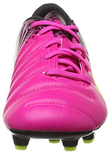 Puma Evopower 4.3 Tricks Fg Jr, Chaussures de football mixte enfant Rose (Pink Glo/Safety Yellow/Black)